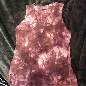 Tops - tie dye cut out tank